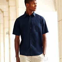 Men Poplin Short Sleeve Shirt